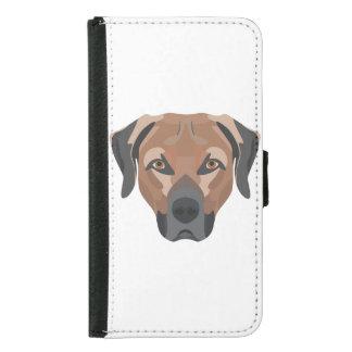 Funda Cartera Para Samsung Galaxy S5 Perro Brown Labrador del ilustracion