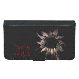 Funda Cartera Para Samsung Galaxy S5 Usted es mi girasol de la sol que únicos lindos se