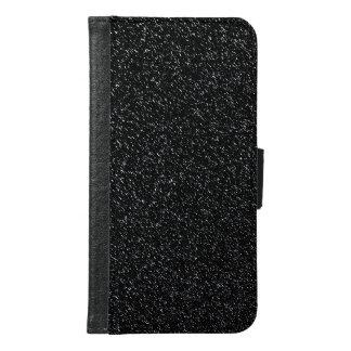 Funda Cartera Para Samsung Galaxy S6 Estilo de piedra negro moderno - espacio
