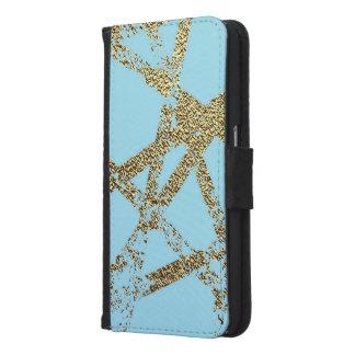 Funda Cartera Para Samsung Galaxy S6 Moderno, abstracto, pintado a mano, el oro alinea
