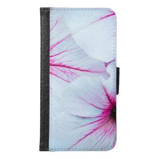 Funda Cartera Para Samsung Galaxy S6 Petunias rosadas bonitas