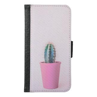 Funda Cartera Para Samsung Galaxy S6 Planta del cactus