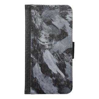 Funda Cartera Para Samsung Galaxy S6 Tinta blanca en el fondo negro #3