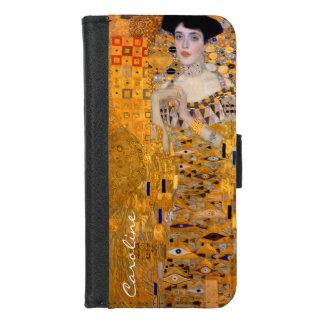Funda Cartera Retrato de Klimt Adela del vintage con su nombre