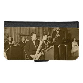 Funda Cartera Saxofón del big band de la foto del vintage