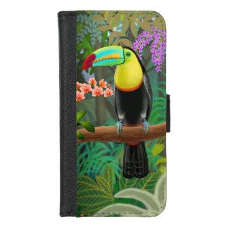 Funda Cartera Toucan tropical en iPhone de la selva 8/7 caja de