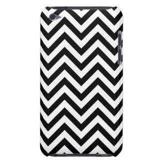 Funda Case-Mate Para iPod El zigzag blanco y negro raya el modelo de Chevron