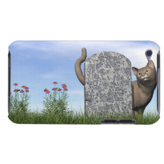 Funda Case-Mate Para iPod Gato triste cerca de la piedra sepulcral