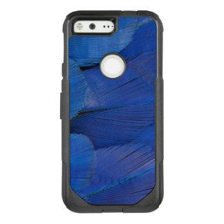 Funda Commuter De OtterBox Para Google Pixel Diseño azul de la pluma del Macaw del jacinto