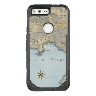 Funda Commuter De OtterBox Para Google Pixel Mapa del golfo de Nápoles y de los alrededores