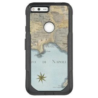 Funda Commuter De OtterBox Para Google Pixel XL Mapa del golfo de Nápoles y de los alrededores