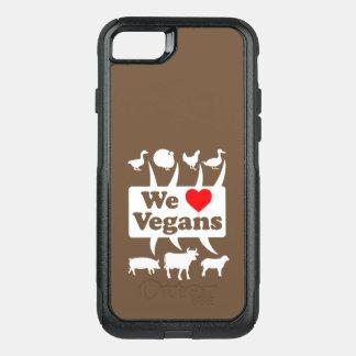 Funda Commuter De OtterBox Para iPhone 8/7 Amamos a los veganos II (blancos)