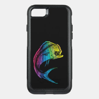 Funda Commuter De OtterBox Para iPhone 8/7 Arco iris Mahi Mahi en negro