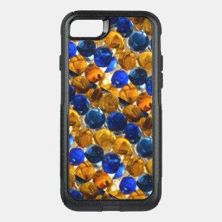 Funda Commuter De OtterBox Para iPhone 8/7 Caja de mármol azul de Brown Otterbox