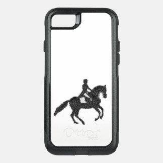 Funda Commuter De OtterBox Para iPhone 8/7 Caso del caballo del Dressage y del teléfono del