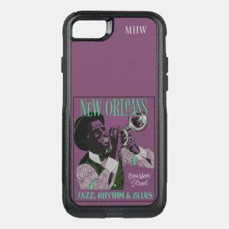 Funda Commuter De OtterBox Para iPhone 8/7 Casos de encargo del monograma de la música de New