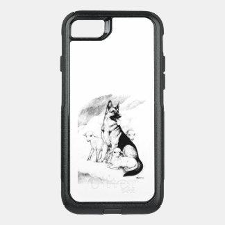 Funda Commuter De OtterBox Para iPhone 8/7 Cielo del perro, la multitud del amo