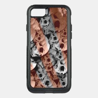 Funda Commuter De OtterBox Para iPhone 8/7 Cráneos naranja y cubierta de la caja del teléfono