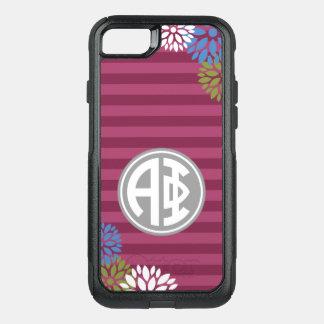 Funda Commuter De OtterBox Para iPhone 8/7 Modelo alfa de la raya del monograma de la phi el