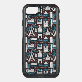 Funda Commuter De OtterBox Para iPhone 8/7 Modelo de los símbolos de Francia el |
