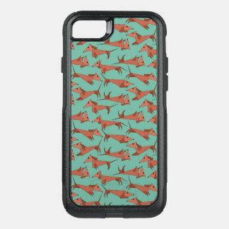 Funda Commuter De OtterBox Para iPhone 8/7 Perros de Weiner en un iphone de Otterbox 8/7 caso