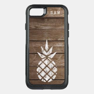Funda Commuter De OtterBox Para iPhone 8/7 Piña de la lechada de cal, madera resistida