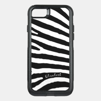 Funda Commuter De OtterBox Para iPhone 8/7 Rayas del modelo de la cebra, negras y blancas, su
