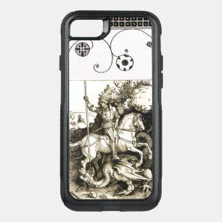 Funda Commuter De OtterBox Para iPhone 8/7 SAN JORGE Y DRAGÓN, blanco negro