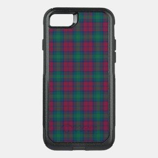 Funda Commuter De OtterBox Para iPhone 8/7 Tela escocesa marrón y verde del tartán de Lindsay
