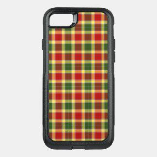 Funda Commuter De OtterBox Para iPhone 8/7 Tela escocesa roja del tartán de Gibbs del clan y