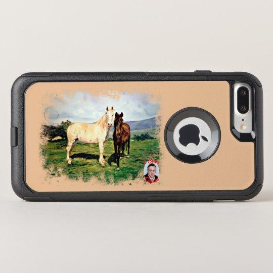 Funda Commuter De OtterBox Para iPhone 8 Plus/7 Pl Caballos/Cabalos/Horses