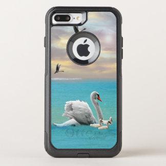 Funda Commuter De OtterBox Para iPhone 8 Plus/7 Pl Canción del cisne blanco,