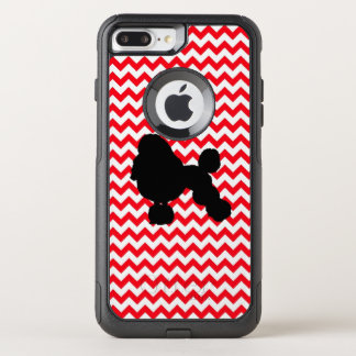 Funda Commuter De OtterBox Para iPhone 8 Plus/7 Pl Coche de bomberos Chevron rojo con la silueta del