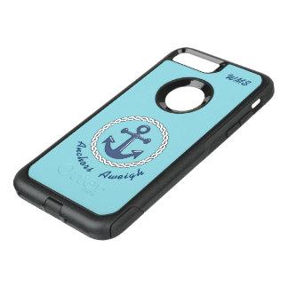 Funda Commuter De OtterBox Para iPhone 8 Plus/7 Pl Con monograma Aweigh de las anclas