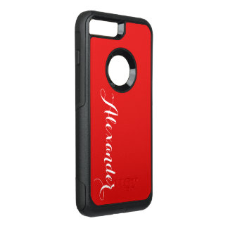 Funda Commuter De OtterBox Para iPhone 8 Plus/7 Pl Fondo del color de DIY, rojo conocido del