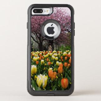 Funda Commuter De OtterBox Para iPhone 8 Plus/7 Pl Foto de los árboles de la flor del parque de la