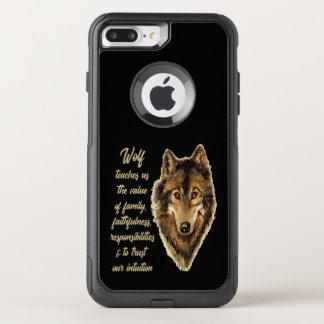 Funda Commuter De OtterBox Para iPhone 8 Plus/7 Pl Guía del alcohol animal del tótem del lobo para la