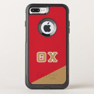 Funda Commuter De OtterBox Para iPhone 8 Plus/7 Pl Letras del Griego de la ji el | de la theta
