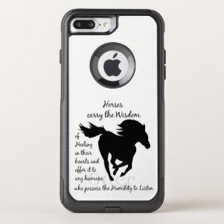Funda Commuter De OtterBox Para iPhone 8 Plus/7 Pl Los caballos llevan la sabiduría de la cita