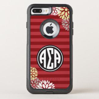 Funda Commuter De OtterBox Para iPhone 8 Plus/7 Pl Modelo alfa de la raya del monograma de la alfa el