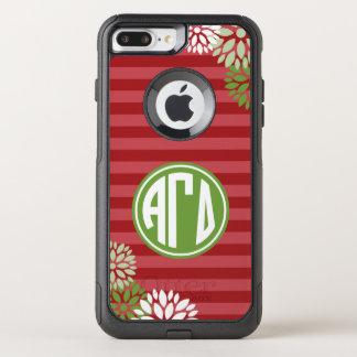 Funda Commuter De OtterBox Para iPhone 8 Plus/7 Pl Modelo gamma alfa de la raya del monograma del