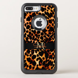 Funda Commuter De OtterBox Para iPhone 8 Plus/7 Pl Monograma del estampado de animales del leopardo