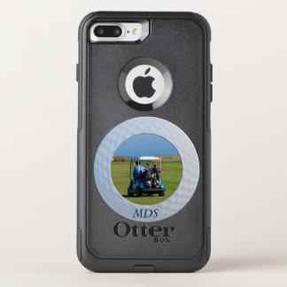 Funda Commuter De OtterBox Para iPhone 8 Plus/7 Pl Monograma enmarcado de la foto de la pelota de