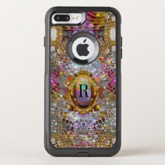 Funda Commuter De OtterBox Para iPhone 8 Plus/7 Pl Monograma protector Sev del kaléidoscope fresco de