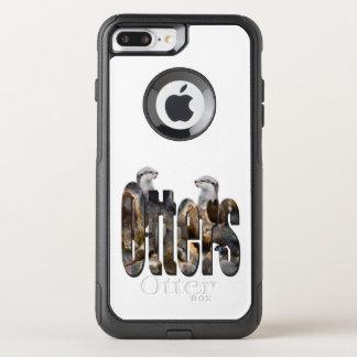 Funda Commuter De OtterBox Para iPhone 8 Plus/7 Pl Nutrias y logotipo de las nutrias,