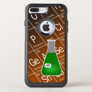 Funda Commuter De OtterBox Para iPhone 8 Plus/7 Pl Química verde del frasco de Erlenmeyer (con