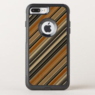 Funda Commuter De OtterBox Para iPhone 8 Plus/7 Pl Silla de montar Brown y modelo rayado negro