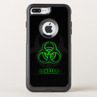 Funda Commuter De OtterBox Para iPhone 8 Plus/7 Pl Símbolo verde del Biohazard que brilla
