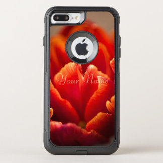 Funda Commuter De OtterBox Para iPhone 8 Plus/7 Pl Tulipán rojo