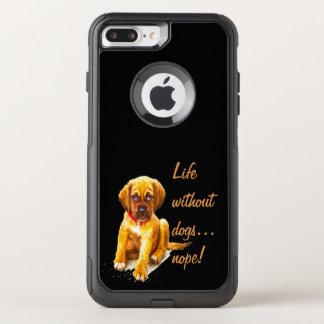Funda Commuter De OtterBox Para iPhone 8 Plus/7 Pl Vida sin los perros, cita de la diversión del nope